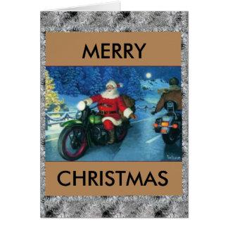 Sankt auf einer Harley Weihnachtskarte Karte