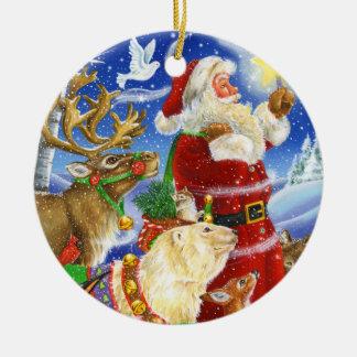 Sankt beleuchtet die Weise Keramik Ornament