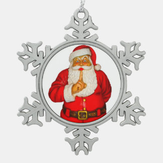 Sankt-Bild für Zinn-Schneeflocke-Dekoration Schneeflocken Zinn-Ornament