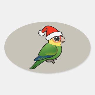 Sankt Carolina Parakeet Ovaler Aufkleber
