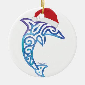 Sankt-Delphin Rundes Keramik Ornament
