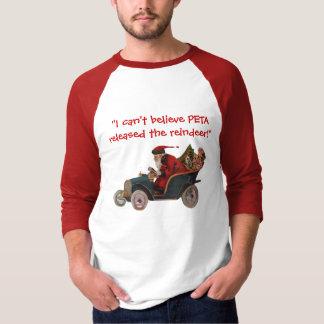 Sankt, die Auto-dank PETA Shirt fährt