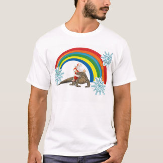 Sankt, die einen komodo Drachen durch einen T-Shirt