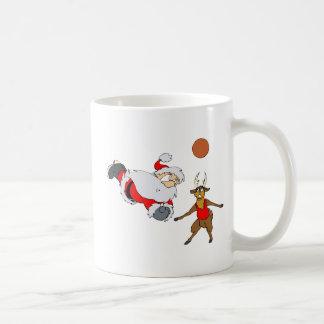 Sankt, die Volleyball spielt Kaffeetasse