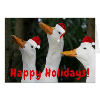 Sankt duckt lustiges Weihnachten Karte