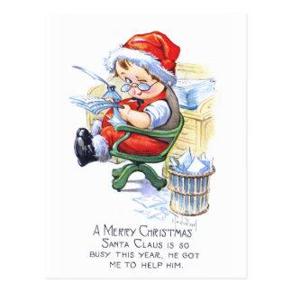 Sankt-Elf im Stuhl Postkarte
