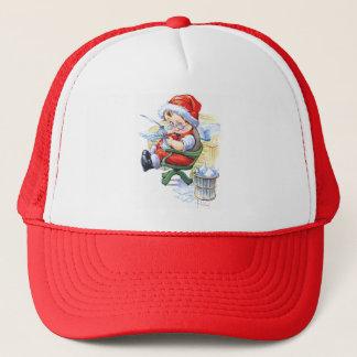 Sankt-Elf im Stuhl Truckerkappe