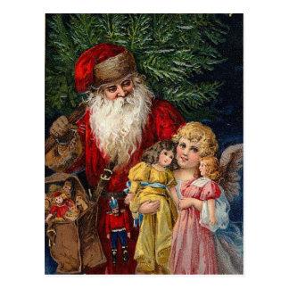 Sankt-Engels-viktorianisches Puppen-Weihnachten Postkarte