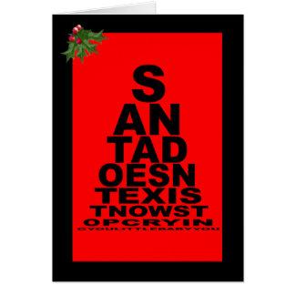 Sankt existiert nicht Weihnachten Karte
