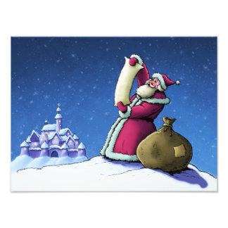 Sankt Feiertags-Fotodruck Liste glücklicher Kunstphoto
