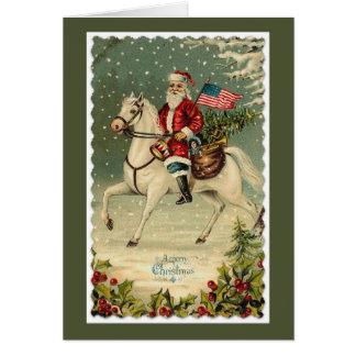 Sankt-Flagge-Pferdeweihnachten Karte