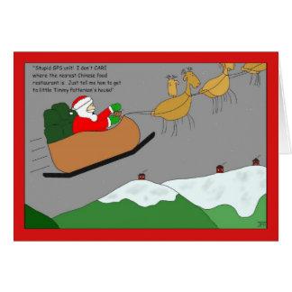 Sankt GPS-Einheits-Weihnachtskarte Karte