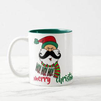 Sankt ho ho ho lustiger WeihnachtsTassenentwurf Zweifarbige Tasse