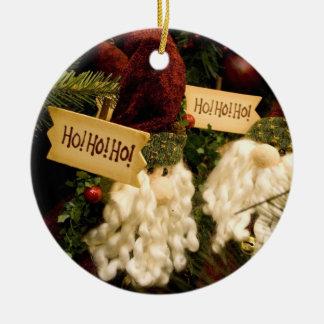 Sankt ho ho ho rundes keramik ornament