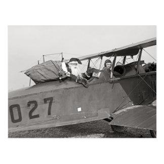 Sankt in einem Flugzeug, 1921 Postkarte