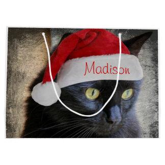 Sankt-Katzen-Geschenk-Tasche, fertigen mit Namen Große Geschenktüte