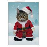 Sankt kratzt Weihnachtskarte