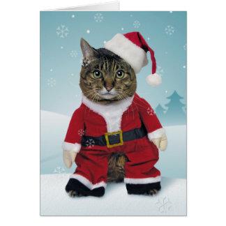 Sankt kratzt Weihnachtskarte Grußkarte
