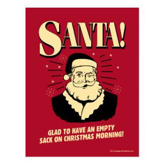 Sankt: Leerer Sack auf Weihnachtsmorgen Postkarte
