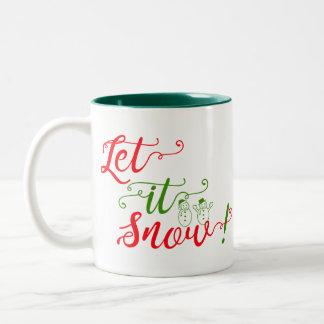 Sankt ließ es schneien zweifarbige tasse
