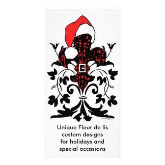 Sankt-Lilie (rot) Photo Karten Vorlage