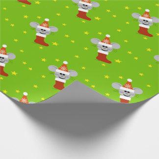 Sankt-Maus scherzt WeihnachtsPackpapier Geschenkpapier