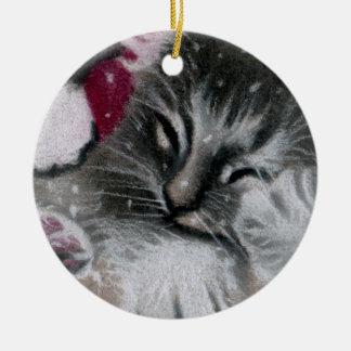 Sankt-Miezekatze-Katzen-Verzierung Keramik Ornament