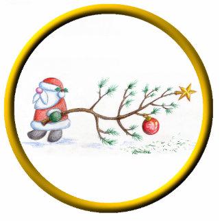 Sankt mit Baum-Verzierung Fotoskulptur Ornament