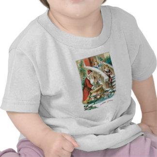 Sankt mit Schlitten und Geschenke für Kinder Shirt