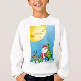 Sankt mit seinem Ren Sweatshirt