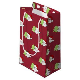Sankt mit Weihnachtsbaum-Muster Kleine Geschenktüte
