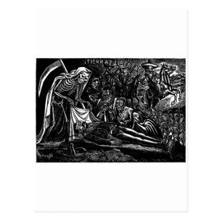 Sankt Muerte und der Soldat C. Mexiko 1951 Postkarte