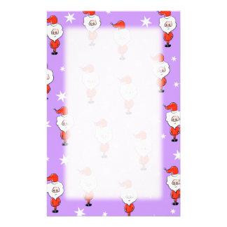 Sankt-Muster. Lila Weihnachtsmuster Bedrucktes Papier