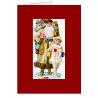 Sankt Nikolaus und Kind Karte