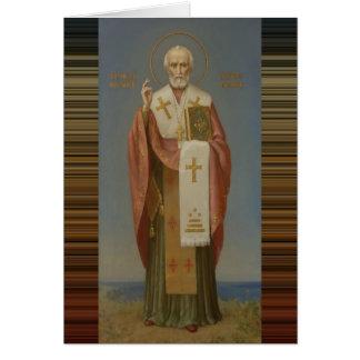 Sankt Nikolaus von Myra Bischof Karte