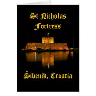 Sankt- Nikolausfestung - Šibenik, Kroatien Karte
