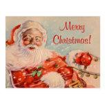 Sankt-Pferdeschlitten-Fahrweihnachtspostkarte Postkarten