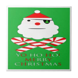 Sankt-Pirat der frohen Weihnachten Keramikfliese