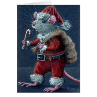 Sankt-Ratten-Weihnachtskarte Grußkarte