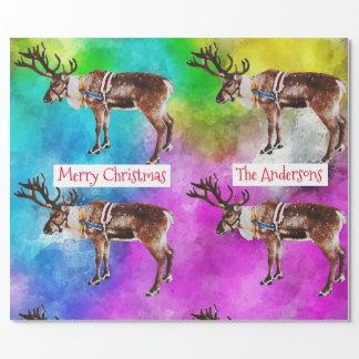 Sankt Ren auf Krawatten-Weihnachten Geschenkpapier