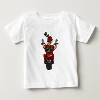 Sankt Rotwild, die ein Fahrrad reiten Baby T-shirt