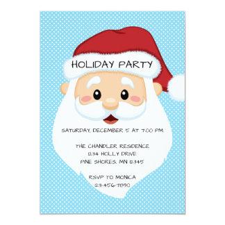 Sankt stellen blaue Weihnachtsfeiertags-Party Karte