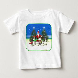 Sankt stoppen zuerst auf Weihnachten Baby T-shirt