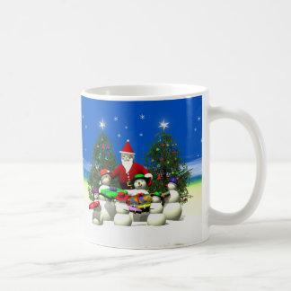 Sankt stoppen zuerst auf Weihnachten Kaffeetasse