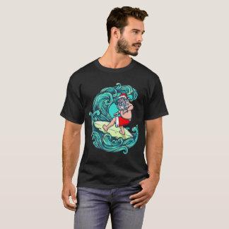 Sankt surft - WeihnachtsShirt für Surfers T-Shirt