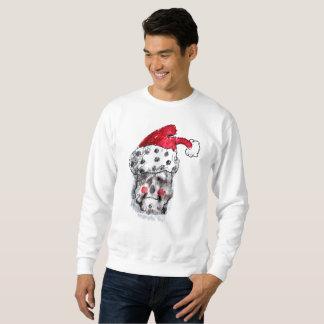 Sankt-Sweatshirt - Weihnachtsmann-Schädel Sweatshirt