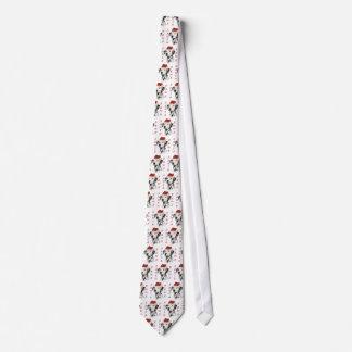 Sankt-Tatzen des Dalmatiner-(Schwarzes) Krawatte