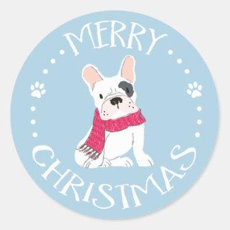 Sankt-Tatzen - Hund-Themenorientiertes Weihnachten Runder Aufkleber
