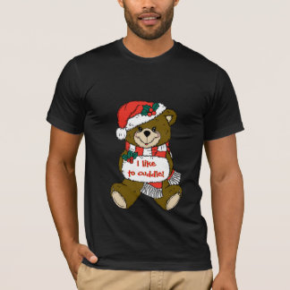 Sankt-Teddybär mit Hut und Muffe T-Shirt