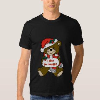 Sankt-Teddybär mit Hut und Muffe T Shirts